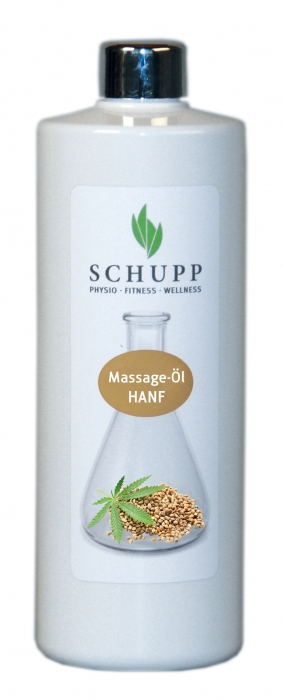 Massage-Öl Hanf 500 ml + Spender